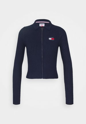 ZIP THRU SWEATER - Jumper - twilight navy