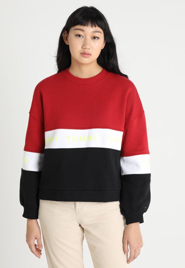 Tommy Jeans - COLORBLOCK - Sweatshirt - black/multi