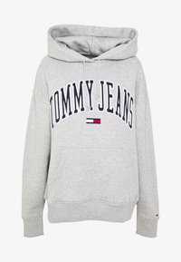 Tommy Jeans - CLASSICS LOGO HOODIE - Huppari - grey - 4