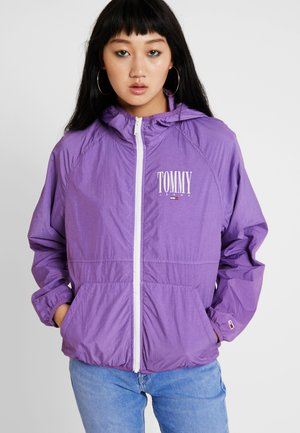 GARMENT DYE HOODED ZIPTHRU - Windbreaker - hyacinth