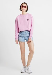 Tommy Jeans - BADGE WOMENS - Sweatshirt - lilac - 1