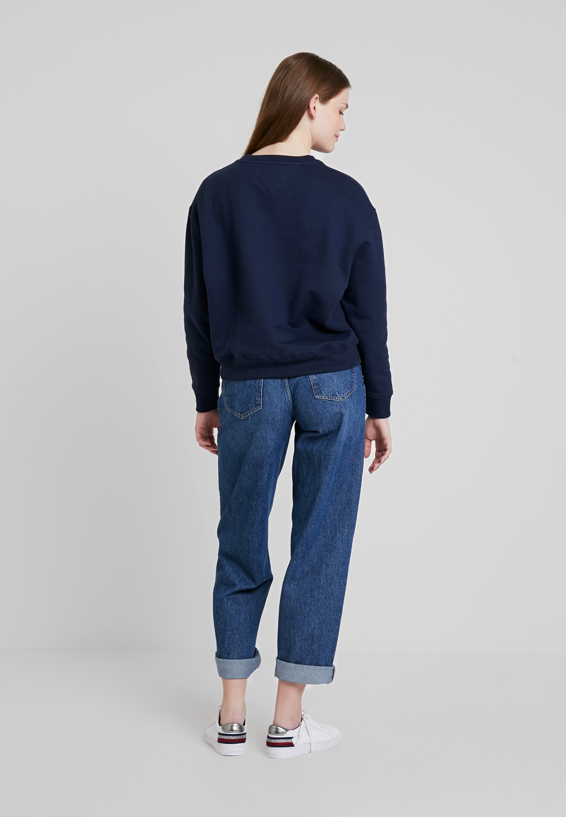 CrewSweatshirt Badge Black Jeans Iris Tommy nP0wkO