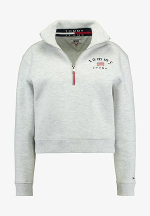 MODERN LOGO QUARTER ZIP - Mikina - pale grey heather