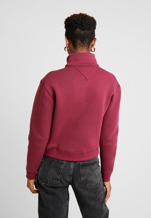 Tommy Jeans MODERN LOGO QUARTER ZIP - Bluza - rhododendron Odzież Damska WKQC-HF6 dobry