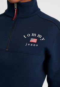 Tommy Jeans - MODERN LOGO QUARTER ZIP - Mikina - black iris - 5