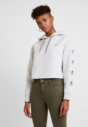 SLEEVE STARS HOODIE - Jersey con capucha - pale grey