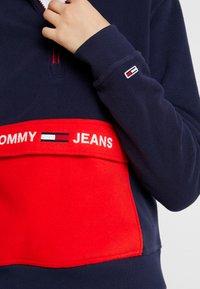Tommy Jeans - COLORBLOCK POLAR HALF ZIP - Fleecegenser - black iris/multi - 5