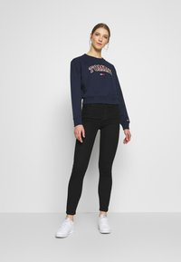 Tommy Jeans - NEON OUTLINE CREW - Sweatshirt - black iris - 1