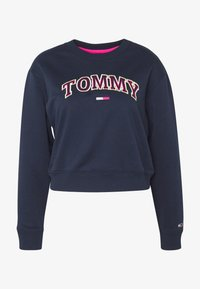 Tommy Jeans - NEON OUTLINE CREW - Sweatshirt - black iris - 4
