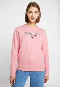Tommy Jeans - ESSENTIAL LOGO - Sweatshirt - pink icing - 0