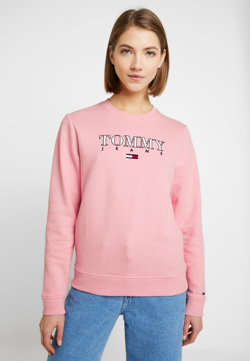Tommy Jeans - ESSENTIAL LOGO - Sweatshirt - pink icing