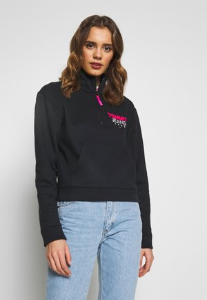 LOGO QUARTER ZIP - Sweatshirt - tommy black