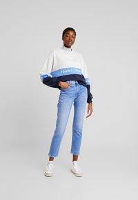 Tommy Jeans - COLORBLOCK CREW - Sweatshirt - pale grey/multi - 1