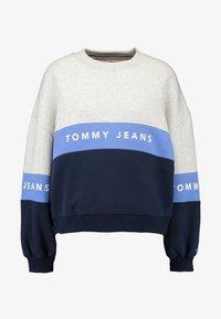 Tommy Jeans - COLORBLOCK CREW - Sweatshirt - pale grey/multi - 4