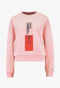 Tommy Jeans - VERTICAL LOGO - Bluza - pink icing - 4