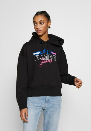 MOUNTAIN LOGO HOODIE - Bluza z kapturem - black
