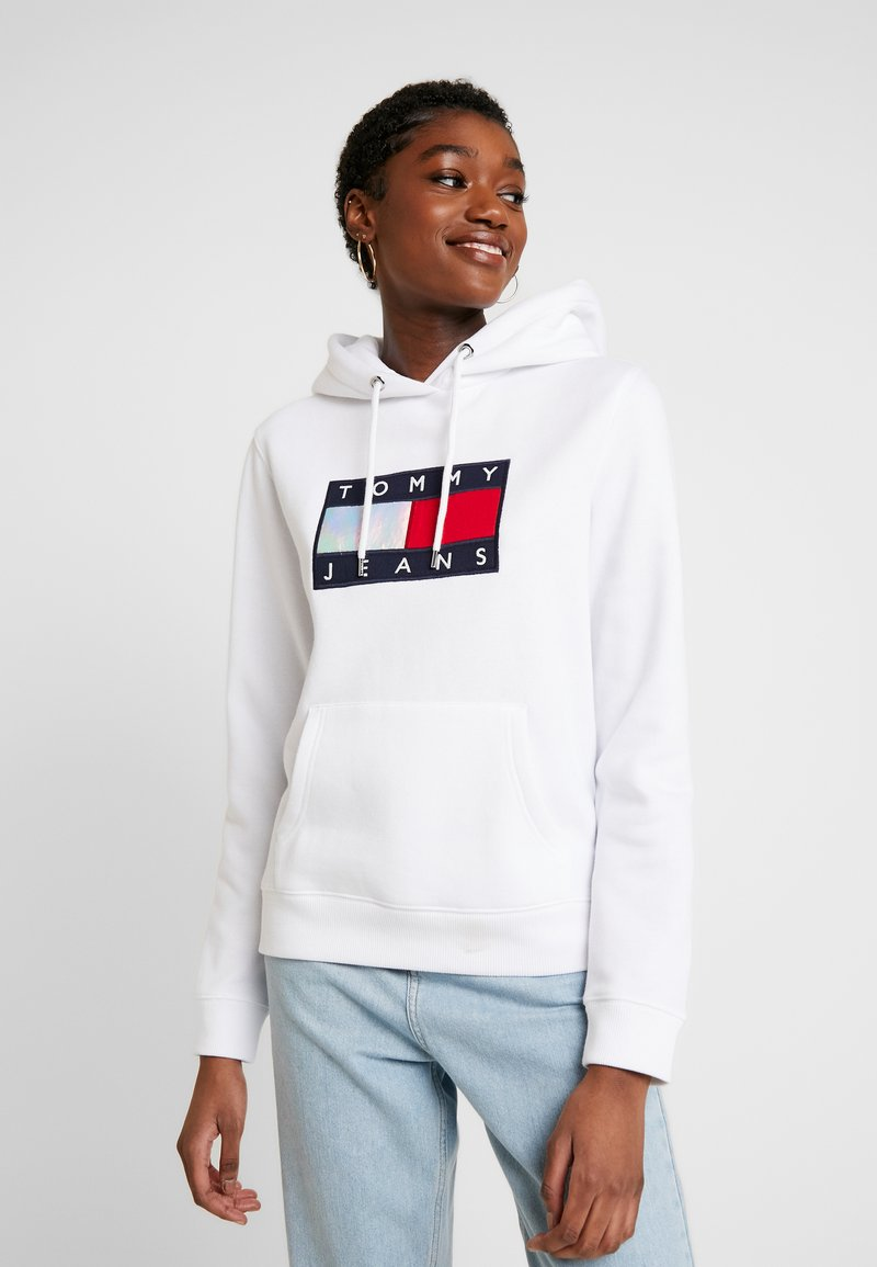 Tommy Jeans - METALLIC HOODIE - Sweat à capuche - white