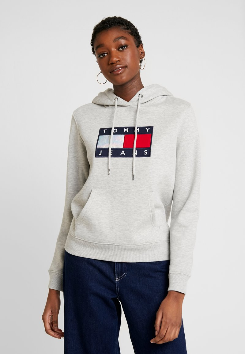 Tommy Jeans - METALLIC HOODIE - Hoodie - light grey heather