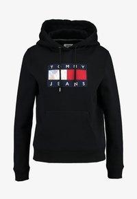Tommy Jeans - METALLIC HOODIE - Mikina skapucí - black - 4