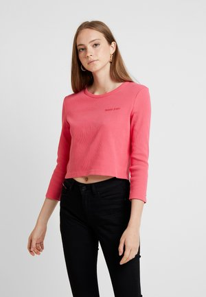 WASHED FITTED  - Long sleeved top - claret red
