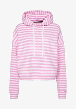 STRIPE HOODIE - Sweat à capuche - pink daisy/white