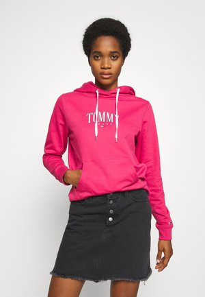 TJW ESSENTIAL LOGO HOODIE - Mikina s kapucí - blush red
