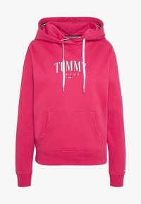 Tommy Jeans - TJW ESSENTIAL LOGO HOODIE - Mikina skapucí - blush red - 3