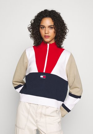 COLORBLOCK LOGO - Pullover - twilight navy/multi