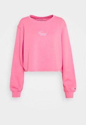 WASHED LOGO CREW - Collegepaita - glamour pink