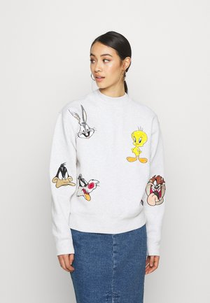 TJW LOONEY TUNES CREW - Sweatshirt - pale grey