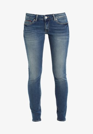 LOW RISE SKINNY SOPHIE - Skinny-Farkut - royal blue stretch
