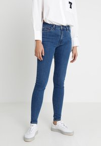 Tommy Jeans - HIGH RISE  - Jeans Skinny Fit - destiny mid blue - 0