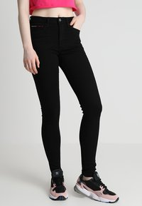 Tommy Jeans - HIGH RISE  - Jeans Skinny Fit - staten black stretch - 0