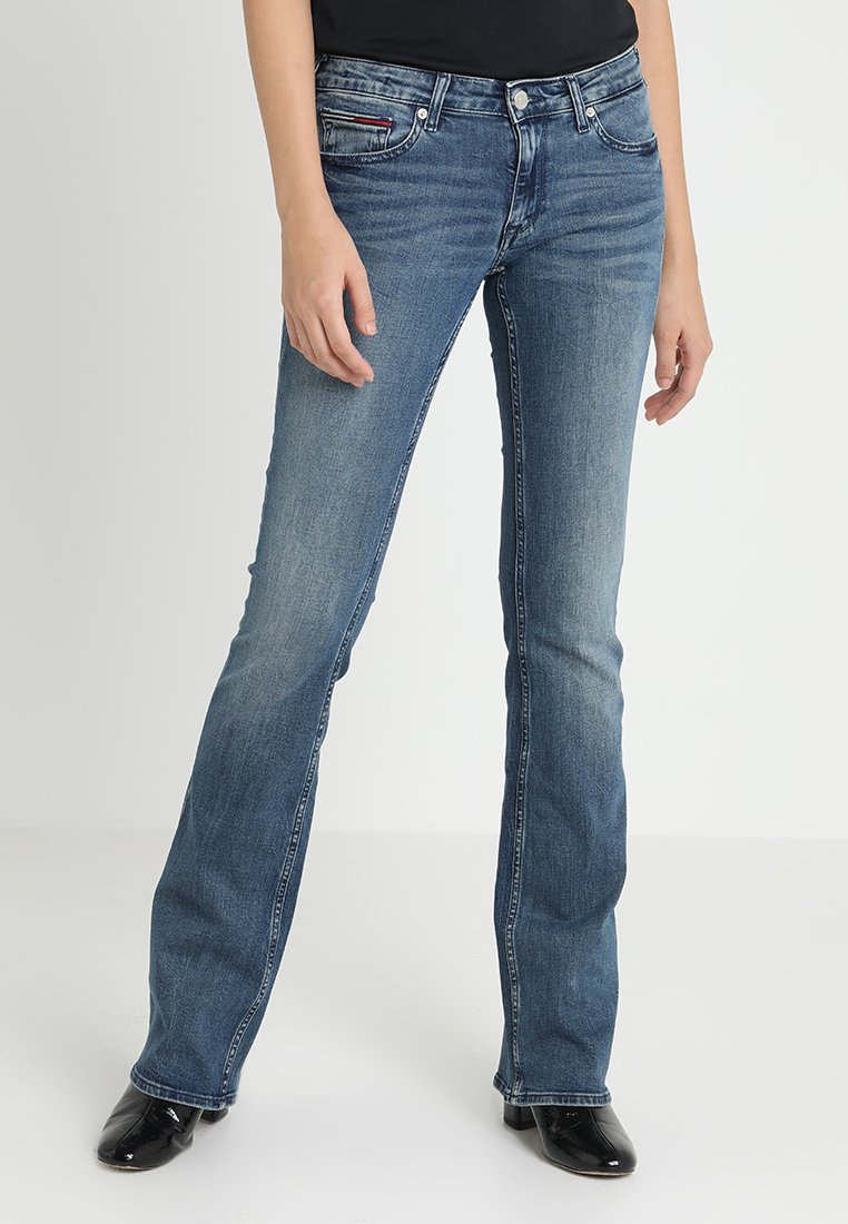 Tommy Jeans - LOW RISE SOPHIE - Bootcut jeans - royal blue