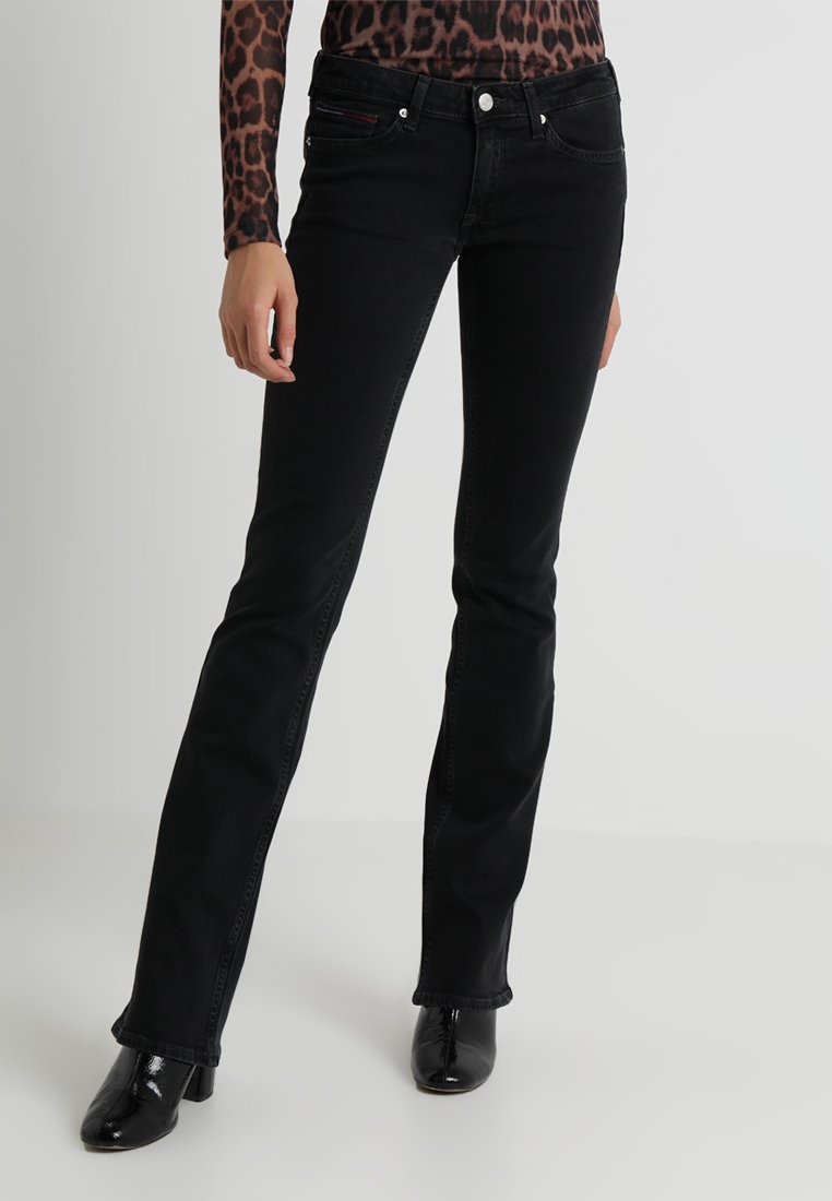 Tommy Jeans - LOW RISE SOPHIE - Bootcut jeans - staten black