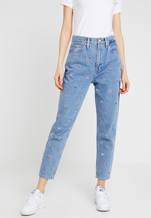 HIGH RISE - Jeans Tapered Fit - gritter light blue