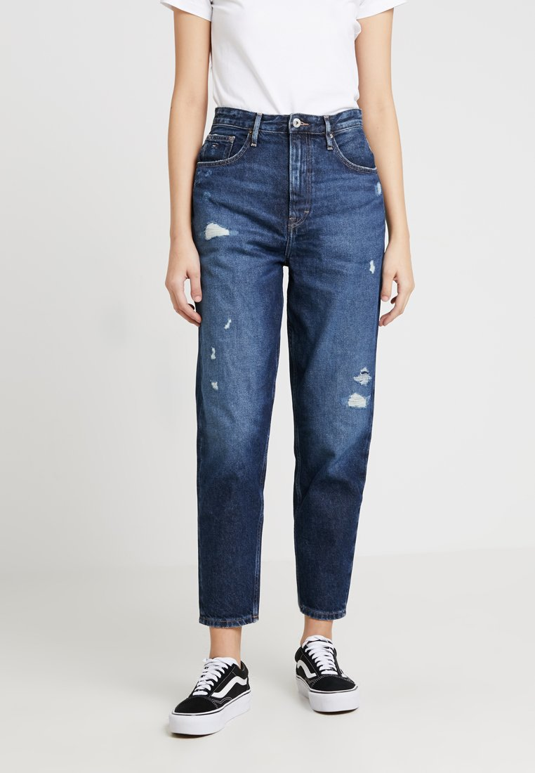 Tommy Jeans - HIGH RISE TAPERED - Jeans Relaxed Fit - dark blue denim