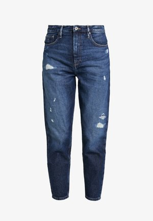HIGH RISE TAPERED - Jeans relaxed fit - dark blue denim