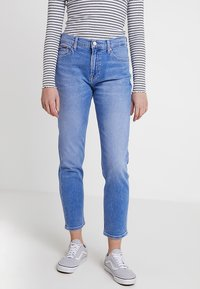 Tommy Jeans - HIGH RISE CROP - Džíny Slim Fit - blue denim - 0