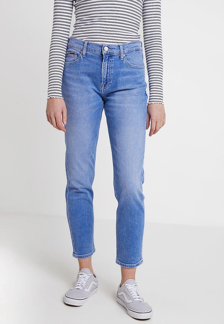 Tommy Jeans - HIGH RISE CROP - Džíny Slim Fit - blue denim