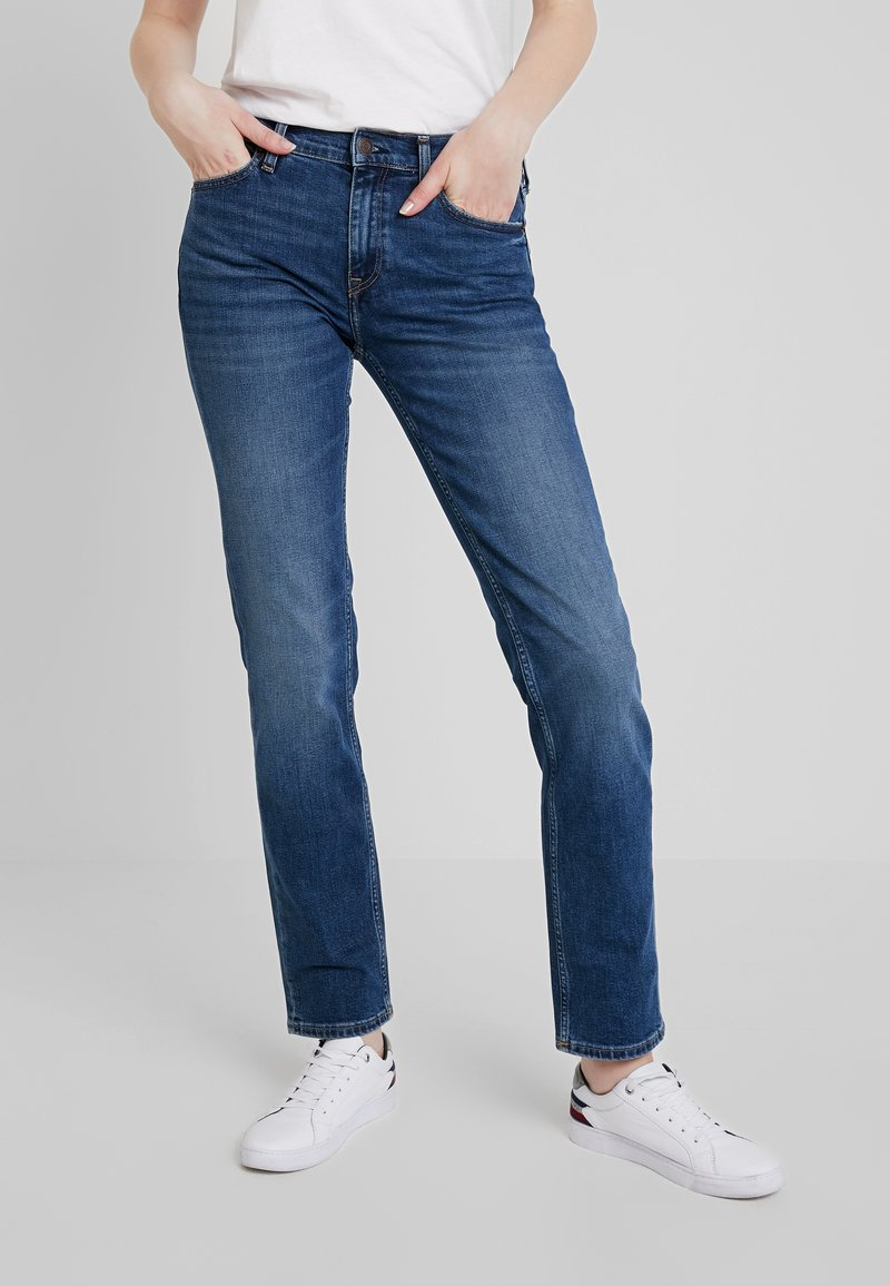 Tommy Jeans - MID RISE - Jeans Straight Leg - utah mid bl com