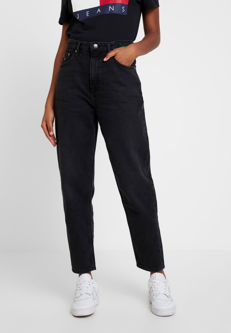 Tommy Jeans - HIGH RISE TAPERED  - Jeans baggy - blue-black denim