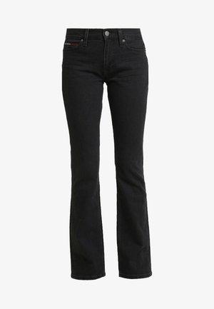 MID RISE - Jeans bootcut - black denim