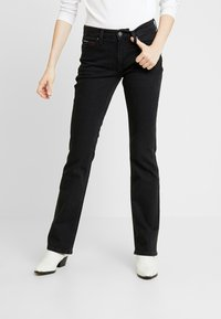 Tommy Jeans - MID RISE - Bootcut jeans - black denim - 0