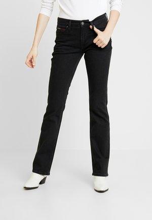 MID RISE - Jean bootcut - black denim