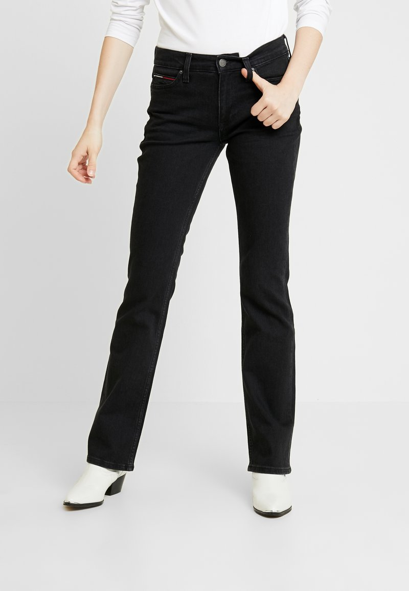 Tommy Jeans - MID RISE - Bootcut jeans - black denim