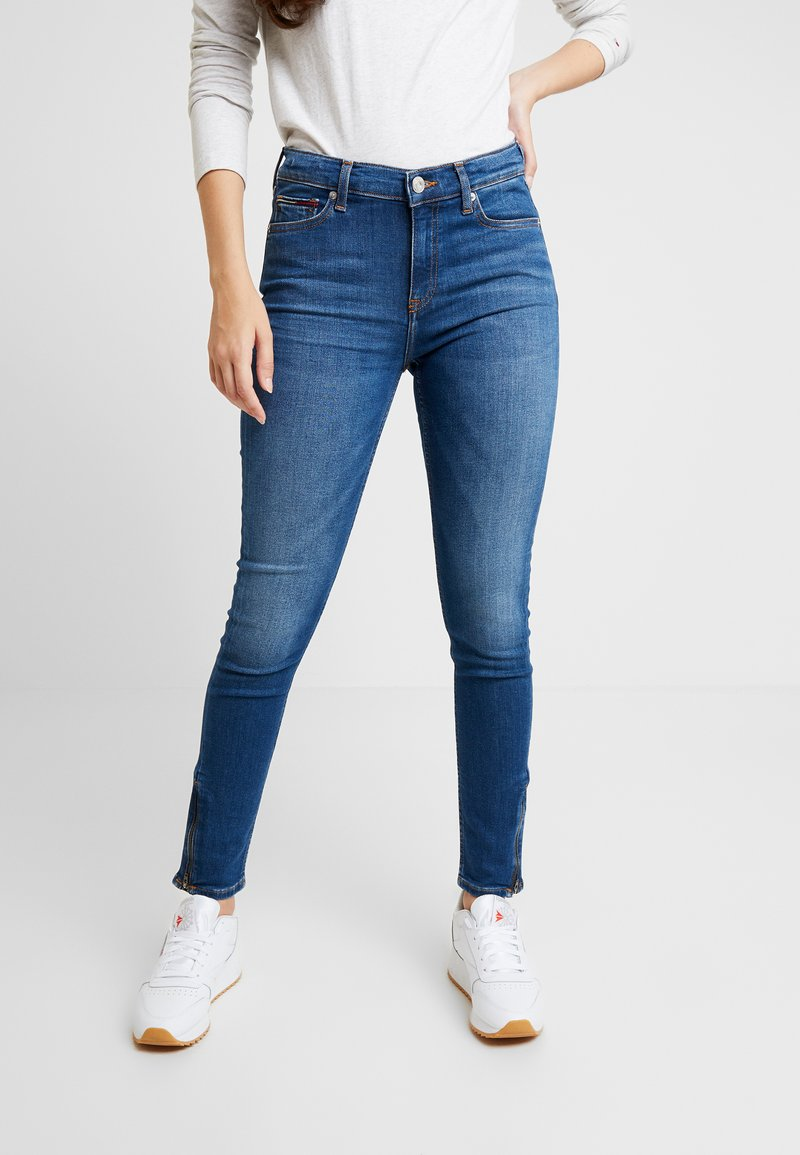 Tommy Jeans - MID RISE SKINNY NORA ZIP - Jeans Skinny Fit - diamond mid blue