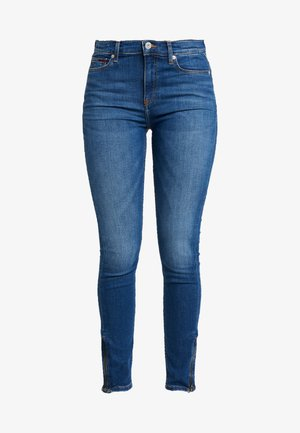 MID RISE SKINNY NORA ZIP - Skinny džíny - diamond mid blue