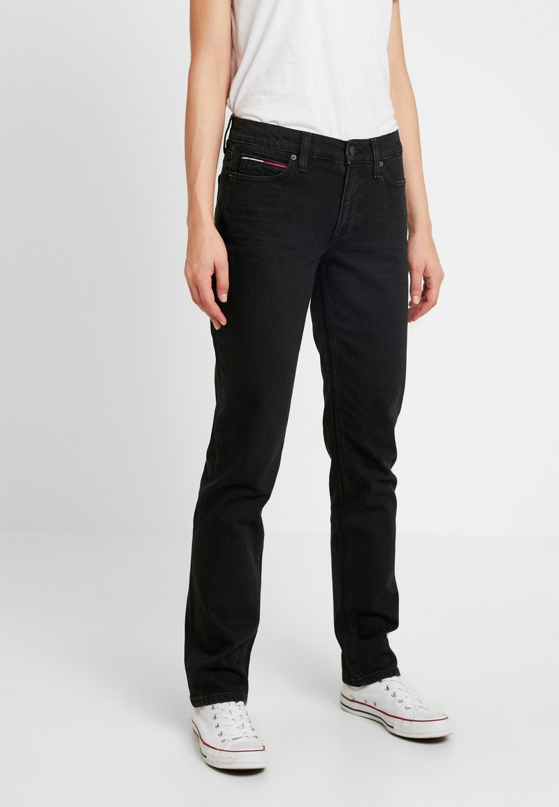 Tommy Jeans - MID RISE STRAIGHT 1985 - Džíny Straight Fit - black denim