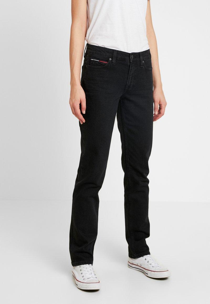 Tommy Jeans - MID RISE STRAIGHT 1985 - Straight leg jeans - black denim
